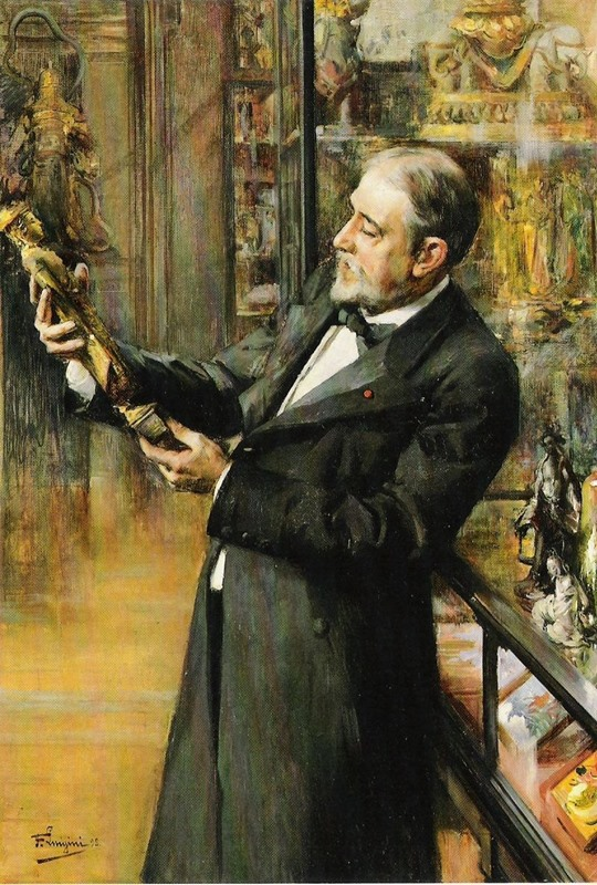 Émile_Guimet_in_his_museum,_by_Ferdinand_Jean_Luigini,_1898